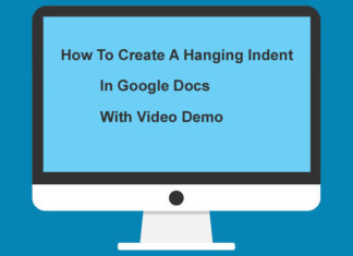 How To Create A Hanging Indent In Google Docs with Video Demo Image